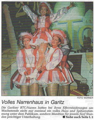 Volles Narrenhaus in Garitz